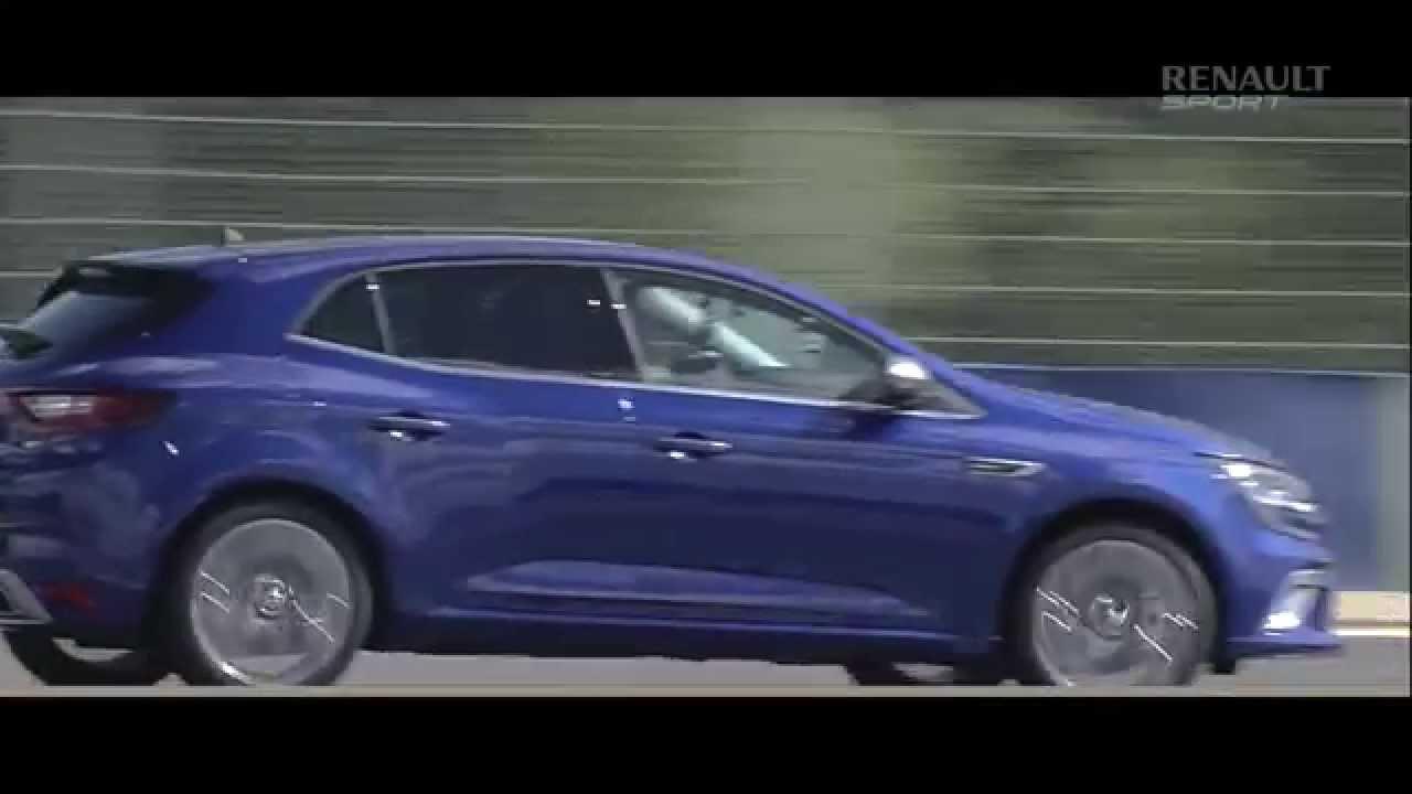Новый Megane-4 GT на трассе в Ле Мане